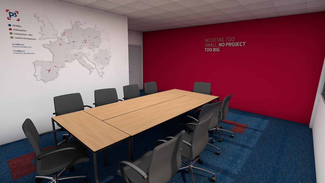 vizualizace kancelar